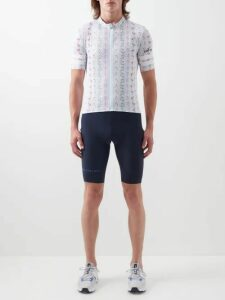United Standard - Acid Wash Effect Logo Print Hooded Sweatshirt - Mens - Black Red