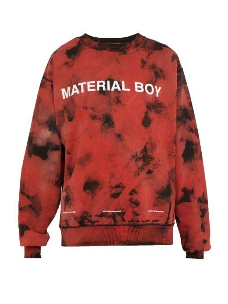 United Standard - Material Boy Loopback Cotton Sweatshirt - Mens - Black Red