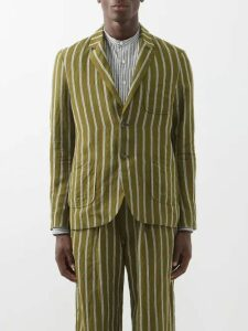 Éditions M.r - Paul High Rise Pleated Linen Trousers - Mens - Multi