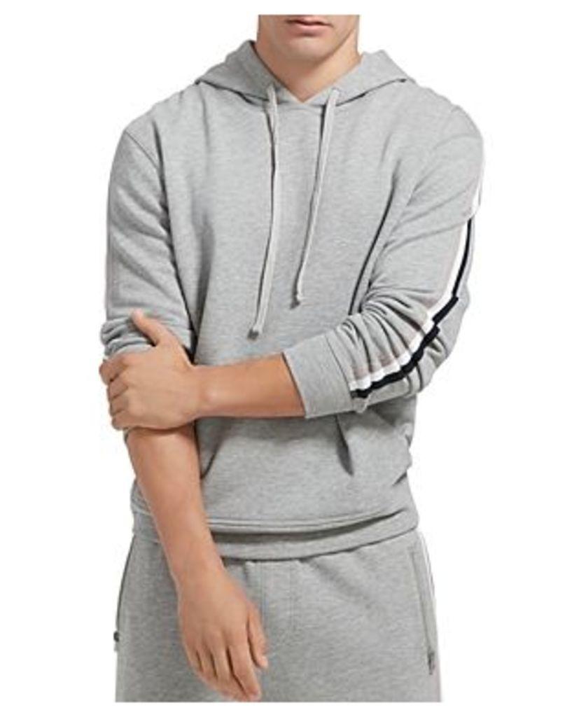 Atm Anthony Thomas Melillo Stripe-Trimmed Hooded Sweatshirt