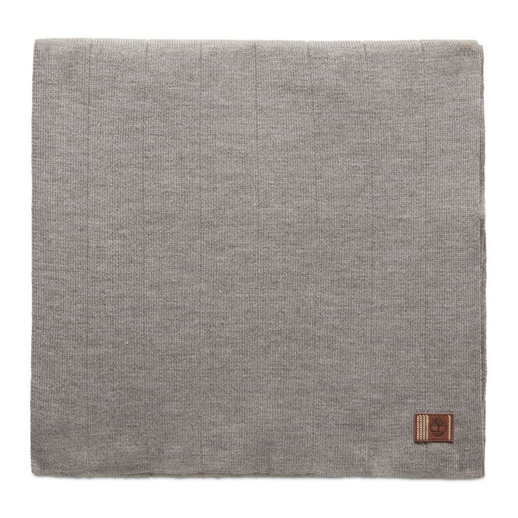 Timberland Ribbed Scarf For Men In Grey Grey, Size ONE