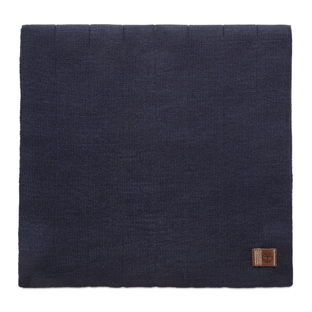 Timberland Ribbed Scarf For Men In Navy Navy, Size ONE