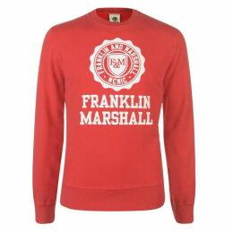 Franklin and Marshall Stamp Logo Sweatshirt