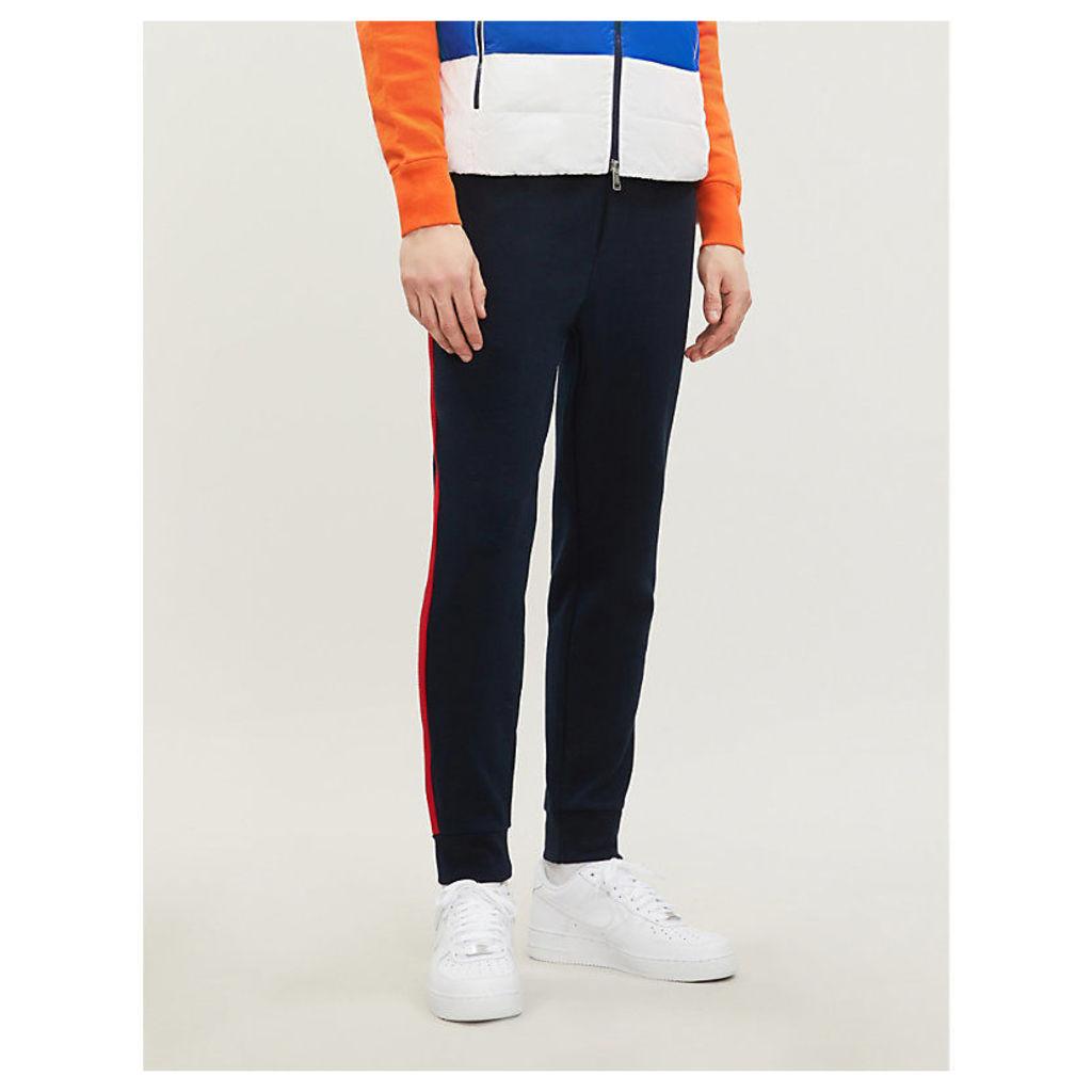 Side-stripe jersey jogging bottoms