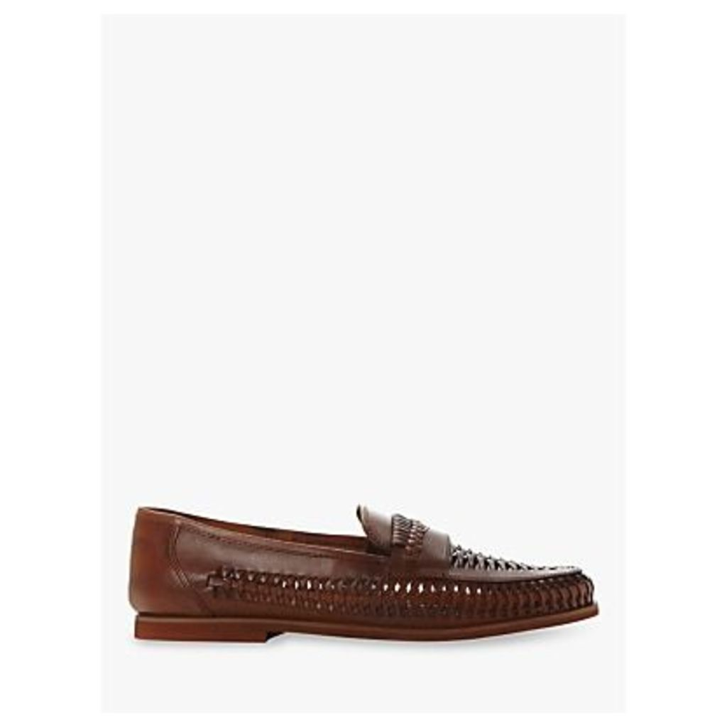 Dune Brighton Rock Woven Leather Loafers, Tan
