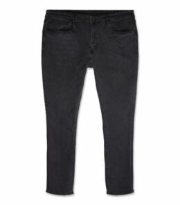 Plus Size Black Washed Skinny Stretch Jeans New Look