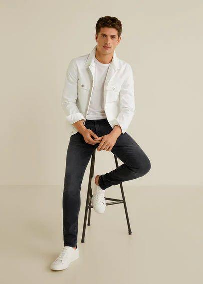 Skinny dark grey wash Jude jeans