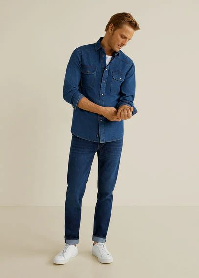 Slim-fit dark wash Jan jeans