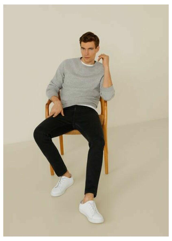 Slim-fit black Jan jeans