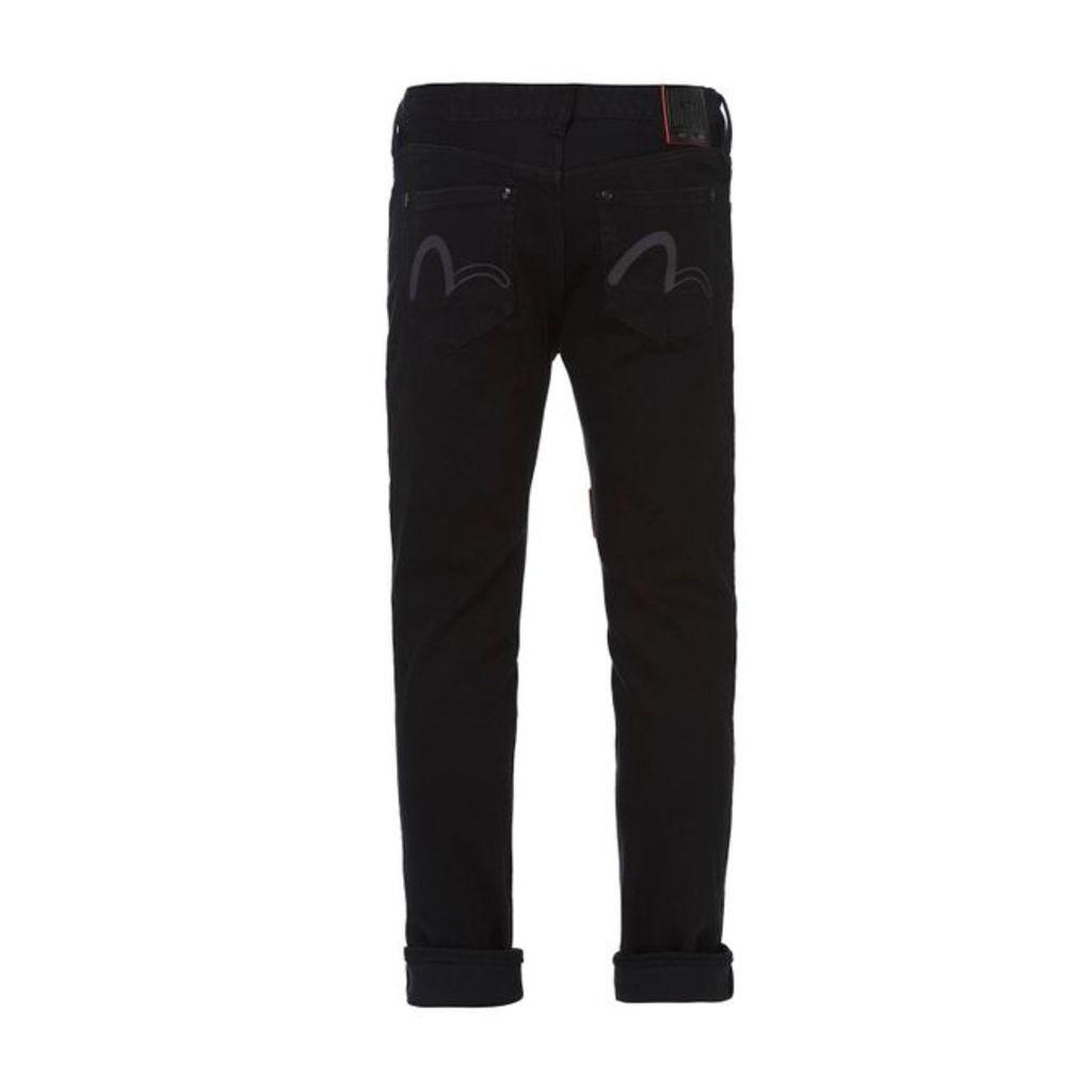 Evisu Super Skinny-fit Denim Jeans With Seagull Print