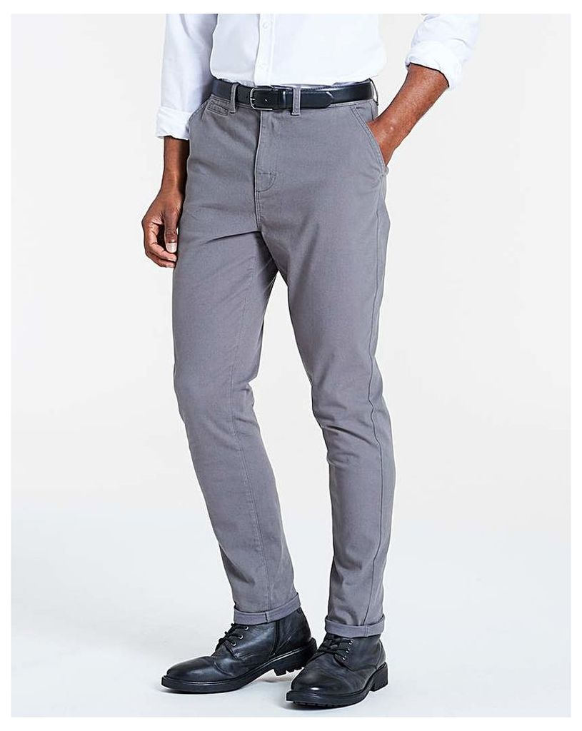 Grey Smart Belted Chinos