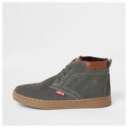River Island Boy Levi's dark Grey lace-up hi top boots