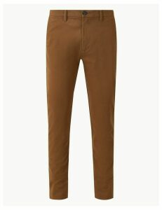M&S Collection Longer Length Skinny Fit Cotton Rich Chinos