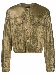 Jean Paul Gaultier Pre-Owned metallic jacket - Gold