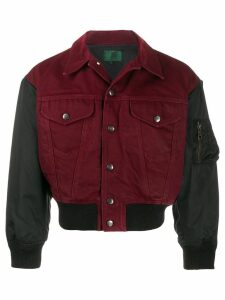 Jean Paul Gaultier Pre-Owned denim bomber jacket - Red