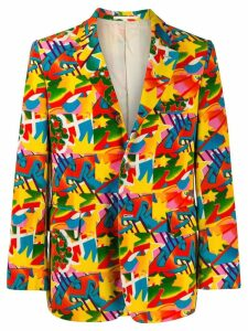 Comme Des Garçons Pre-Owned abstract printed jacket - Yellow