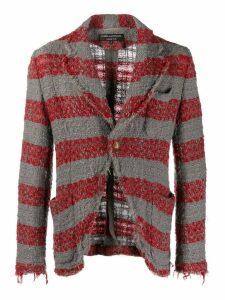 Comme Des Garçons Pre-Owned striped jacket - Grey