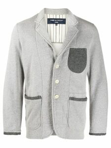 Comme Des Garçons Pre-Owned contrasting details straight jacket - Grey