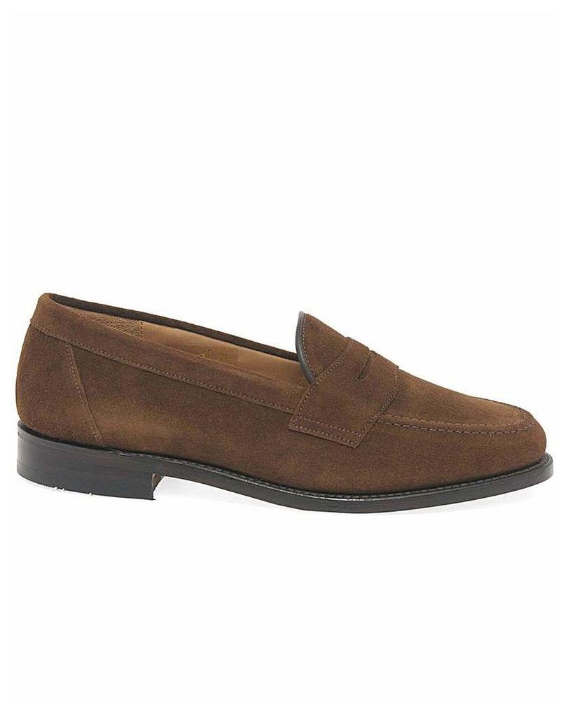 Loake Eton Mens Suede Formal Loafers