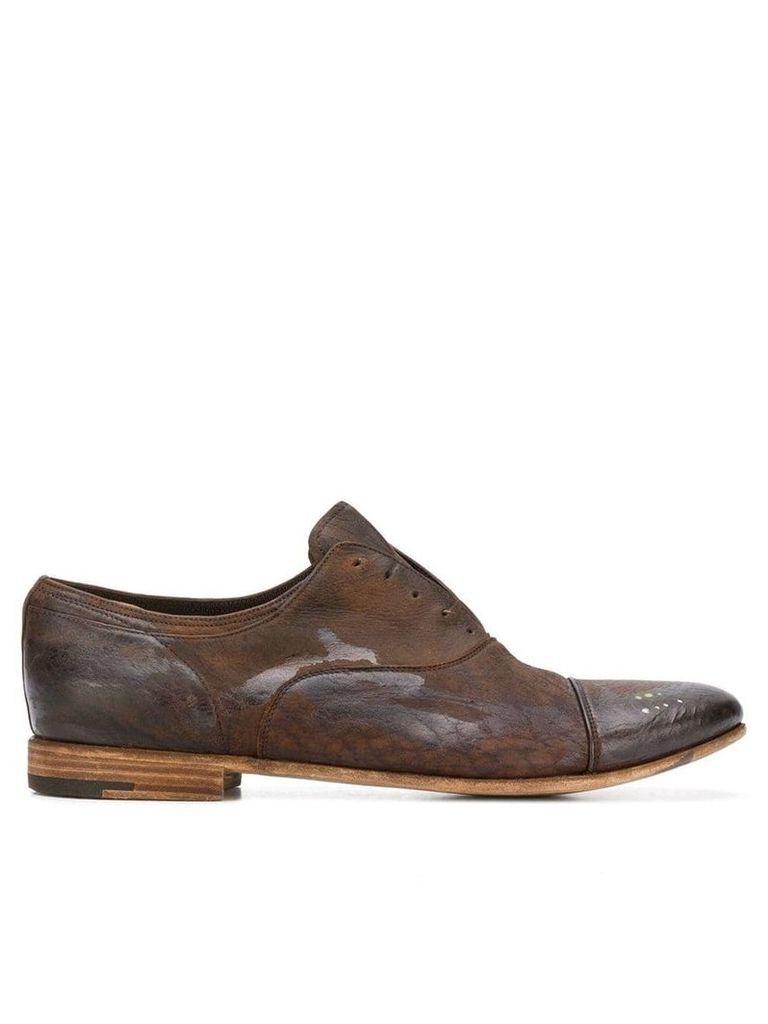 Premiata laceless oxford shoes - Brown