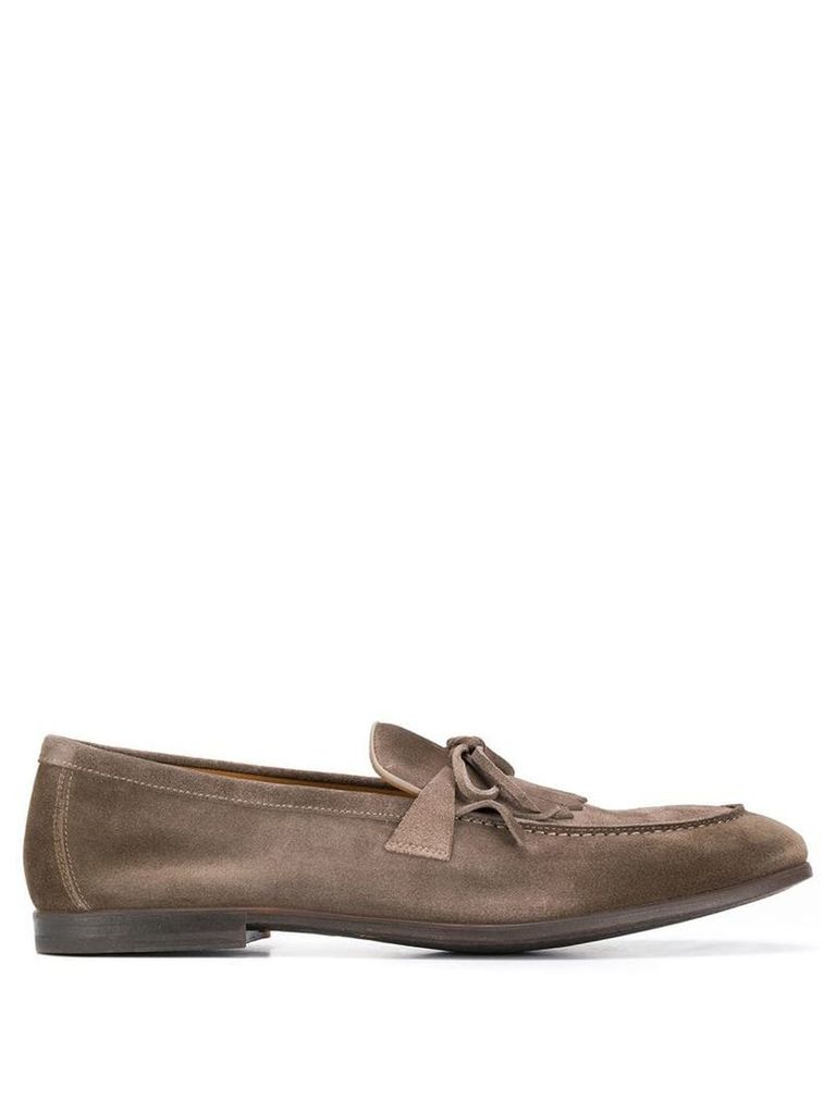 Doucal's mocassin tassel loafers - Grey