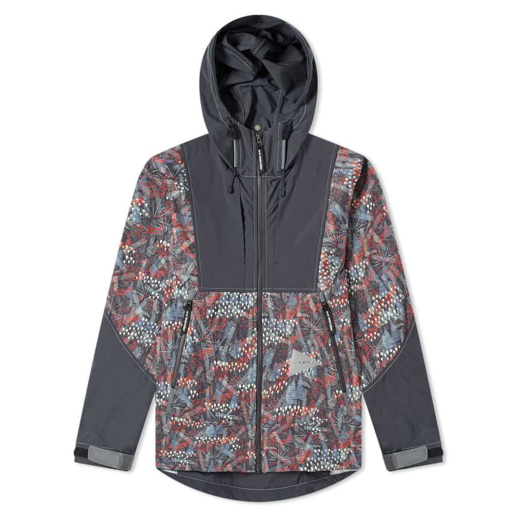 And Wander Printed Stretch Jacket Charcoal