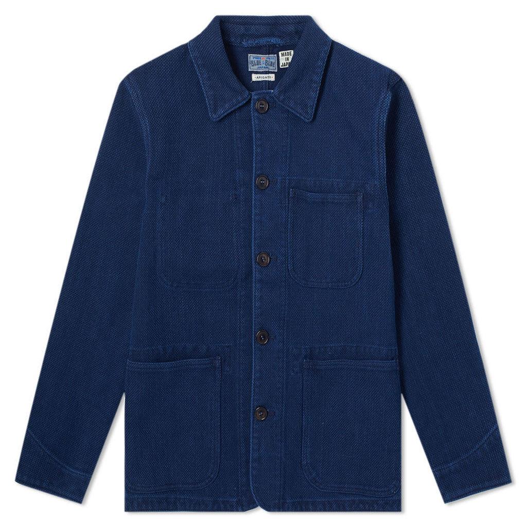 Blue Blue Japan Sashiko Coverall Jacket Indigo