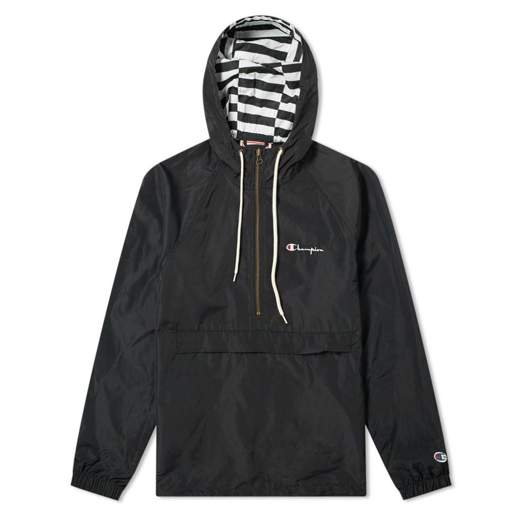Champion Reverse Weave Popover Jacket Black
