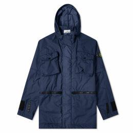 Stone Island Membrana 3L TC Zip Hooded Pocket Shell Jacket Navy Marine