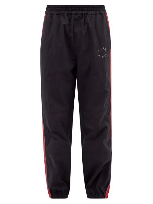 Gramicci - Belted Cotton Twill Trousers - Mens - Navy