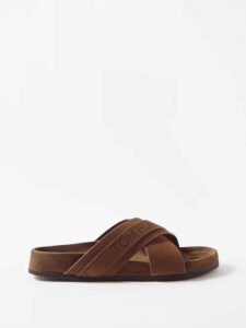 Fear Of God - Contrast Panel Cotton Track Pants - Mens - Grey