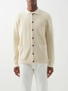 Gucci - Logo Embroidered Cotton Herringbone Trousers - Mens - Light Denim