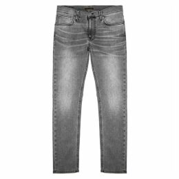 Nudie Jeans Lean Dean Slim-leg Grey Denim Jeans