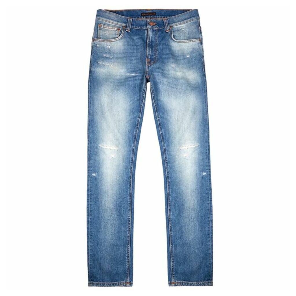 Nudie Jeans Lean Dean Light Blue Slim-leg Jeans