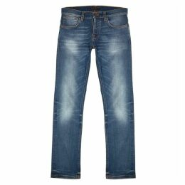Nudie Jeans Grim Tim Light Blue Slim-leg Jeans