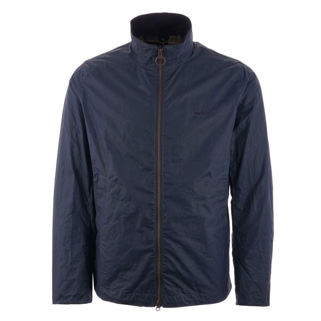 Lightweight Admiralty Waxed Cotton Jacket - Dark Denim