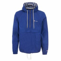 Half Zip Hooded Jacket - Nautical Blue
