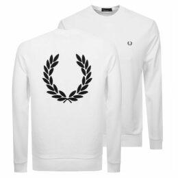 Fred Perry Crew Neck Sweatshirt White