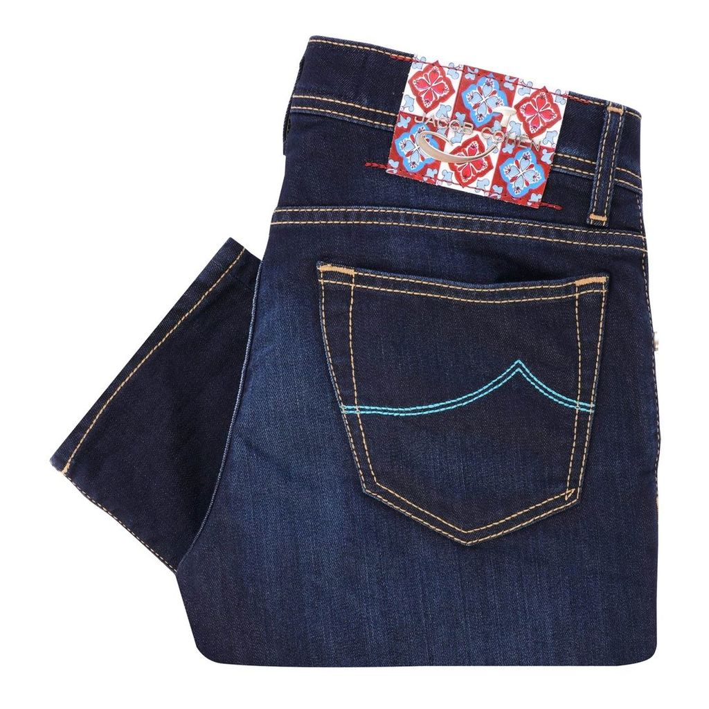 Special Edition J688 Turquoise Comfort Jeans - Indigo