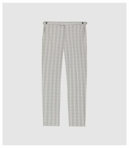 Reiss Gould - Checked Tailored Trousers in Grey, Mens, Size 38