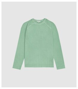 Reiss Hampstead - Garment Dyed Sweatshirt in Peppermint, Mens, Size XXL