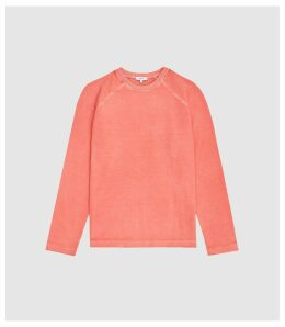 Reiss Hampstead - Garment Dyed Sweatshirt in Pink, Mens, Size XXL