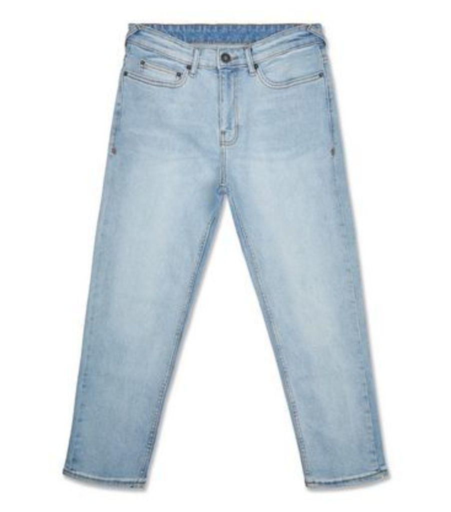 Pale Blue Slim Crop Jeans New Look