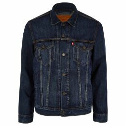 Mens River Island Levi's Blue denim trucker jacket