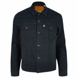 Mens River Island Levi's dark Blue trucker jacket