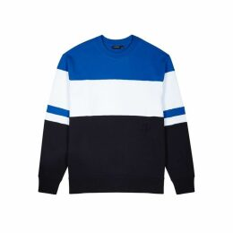 J.Lindeberg Hurl Panelled Cotton Sweatshirt