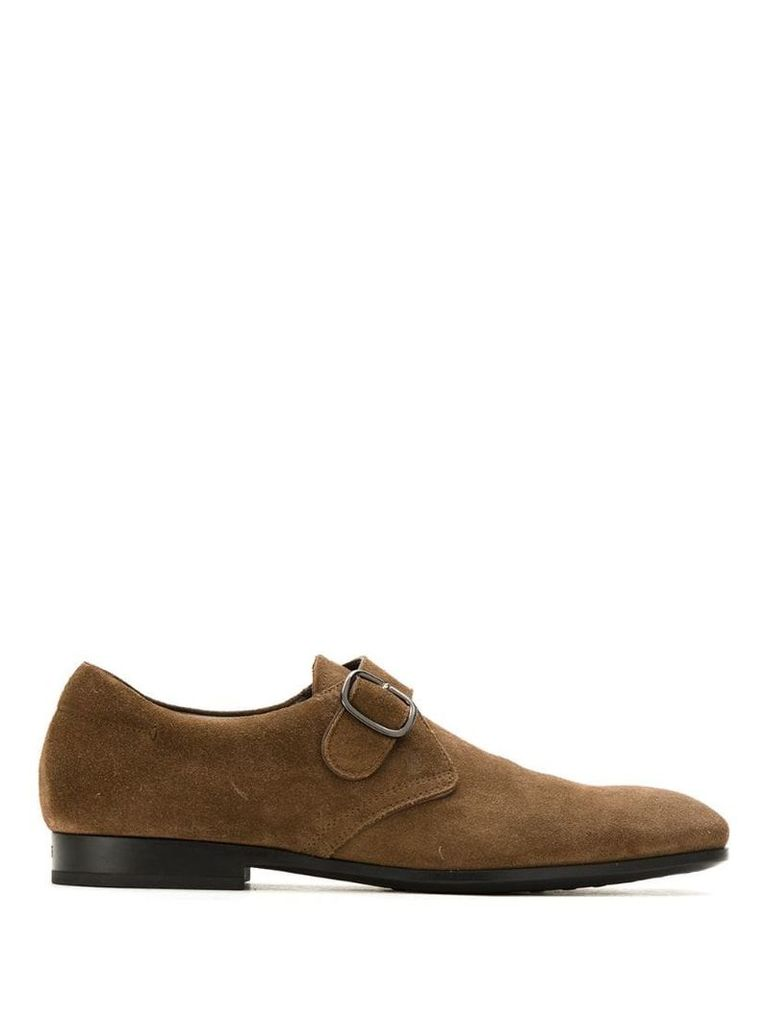 Tod's buckled suede Oxford shoes - Brown