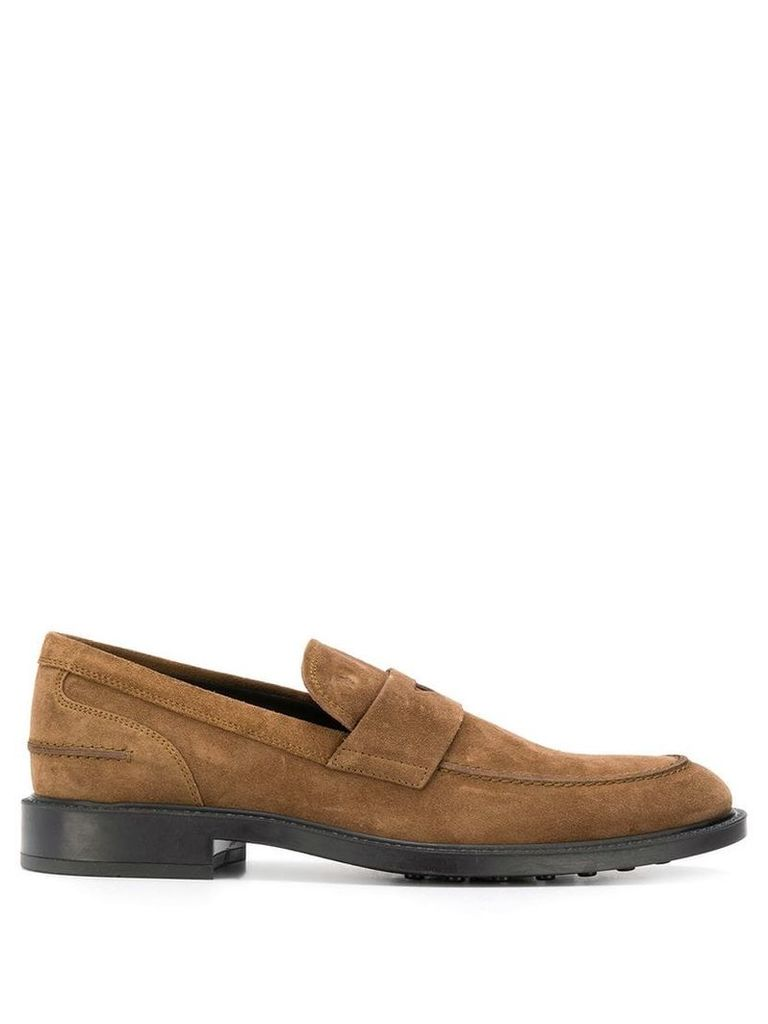 Tod's classic brand loafers - Brown