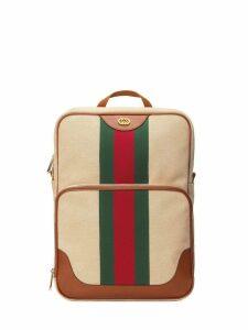 Gucci Vintage canvas backpack - Brown