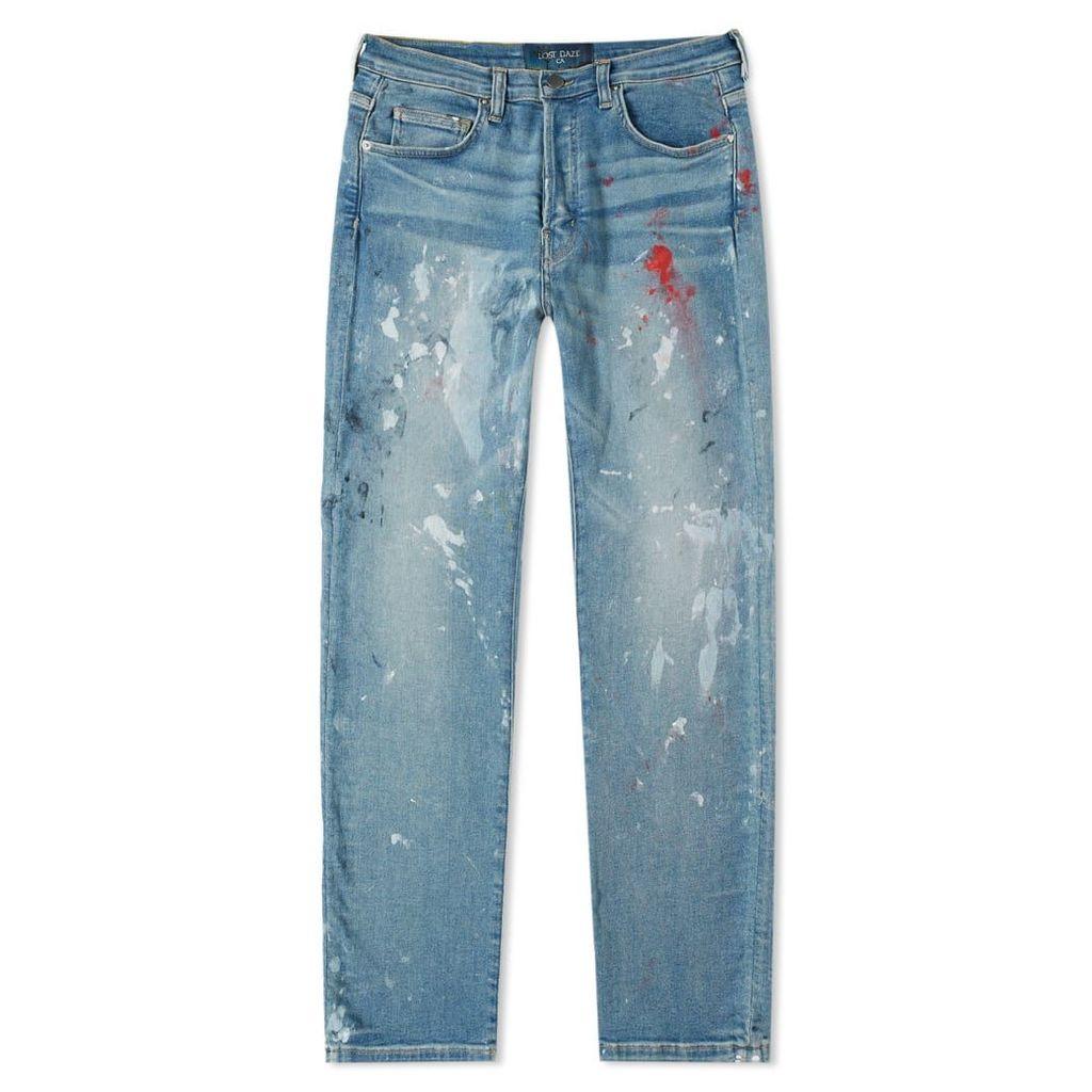 Lost Daze Straight Leg Painter Jean Vintage Indigo